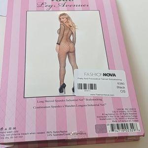 Fashion Nova Intimates & Sleepwear - Fashion Nova fishnet bodysuit full length